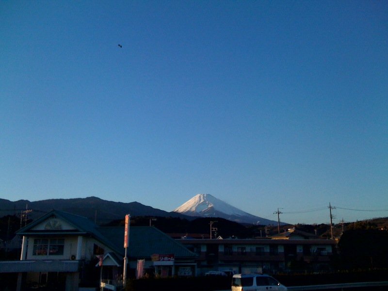 今日の富士山(長泉町水窪付近)