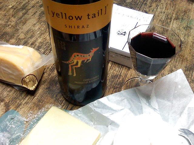 イエローテイル・シラーズとチーズ